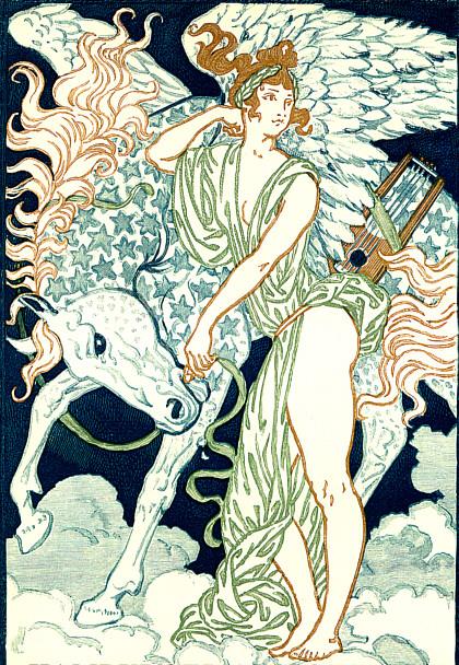 Pegasus und Muse