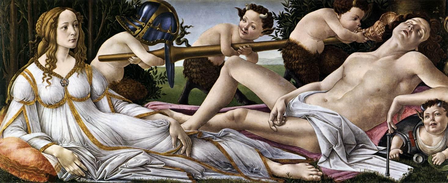 Venus und Mars, Botticelli